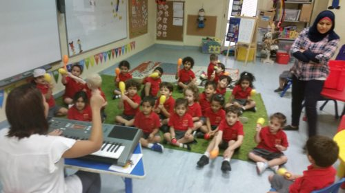 FS1 Kangaroos experiencing their first music lesson.